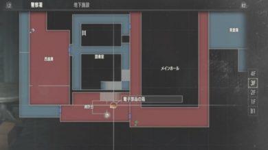 クレア時計台の電子部品MAP