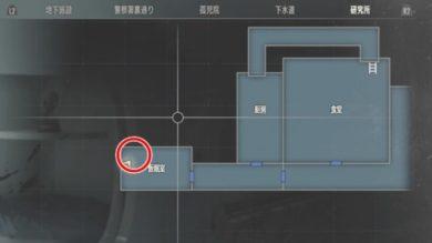 ラクーン場所研究所B1仮眠室MAP