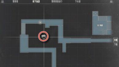 地下施設中層機械室MAP