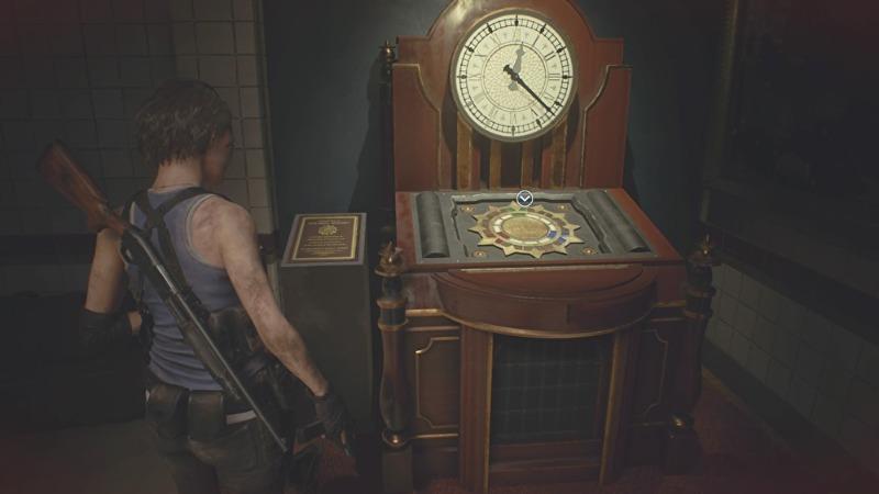 時計ギミック3つのジュエルの場所