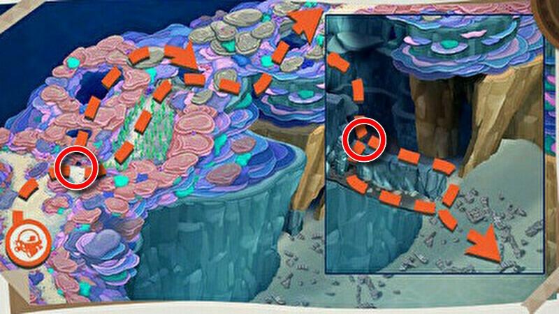 レンティル海床(海中)の分岐ルートの開放1